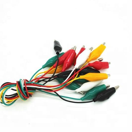 Spring Steel Wire Clips Alligator Clips With Wire Medium Battery Clip Cable Crocodile Clip