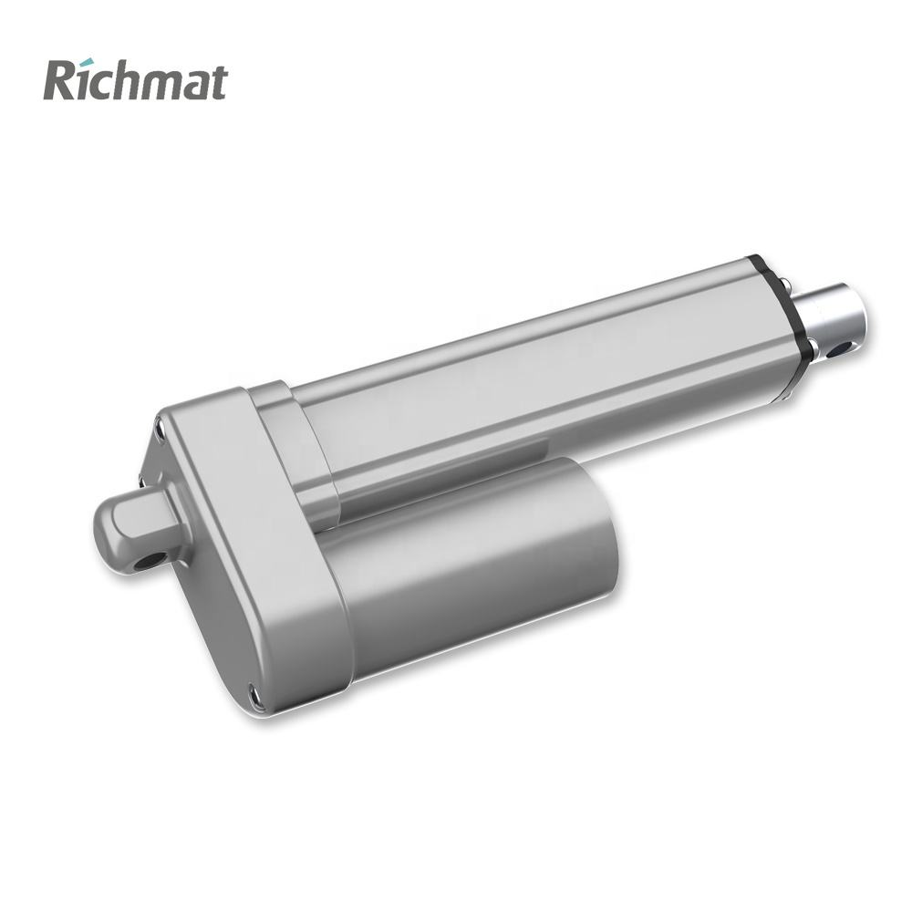 Richmat high speed 900mm stroke synchronous tubular sunlight 24v motor electric 12v linear actuator for solar tracker
