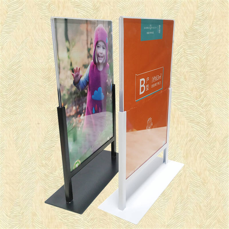 A4 acrylic metal base Shutters store display Robe Hooks poster stand Arches sign holder