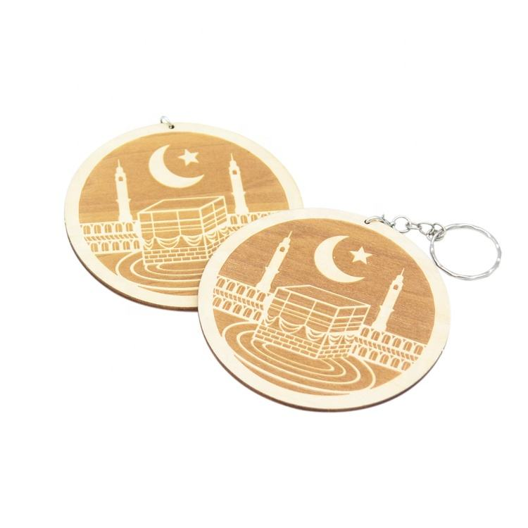 Ramadan eid adha wood sign laser cut mecca kaaba gift wooden ornament
