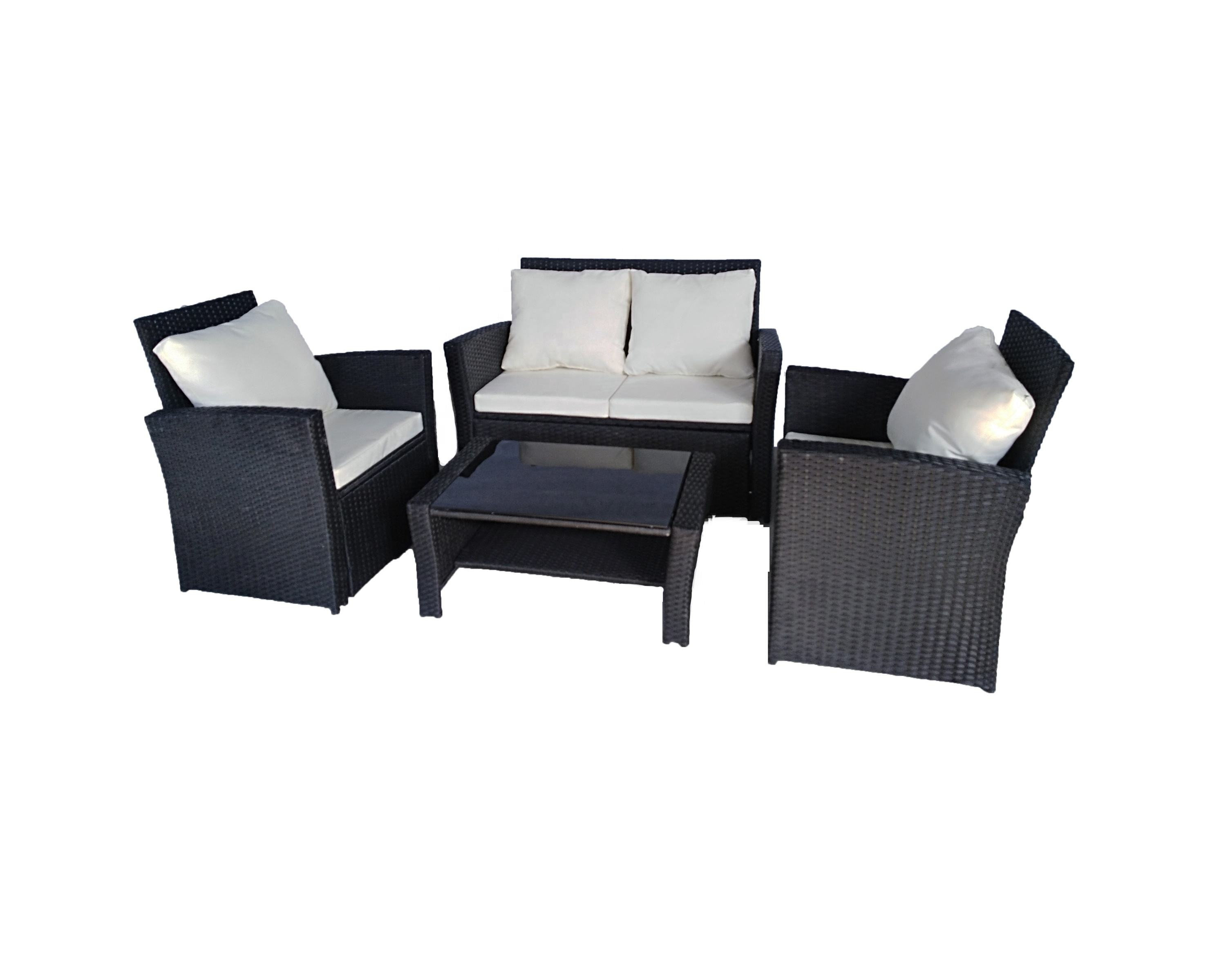2020 Top sales Rattan Garden Furniture Sofa Wicker Weave 4 Seater Patio Conservatory set