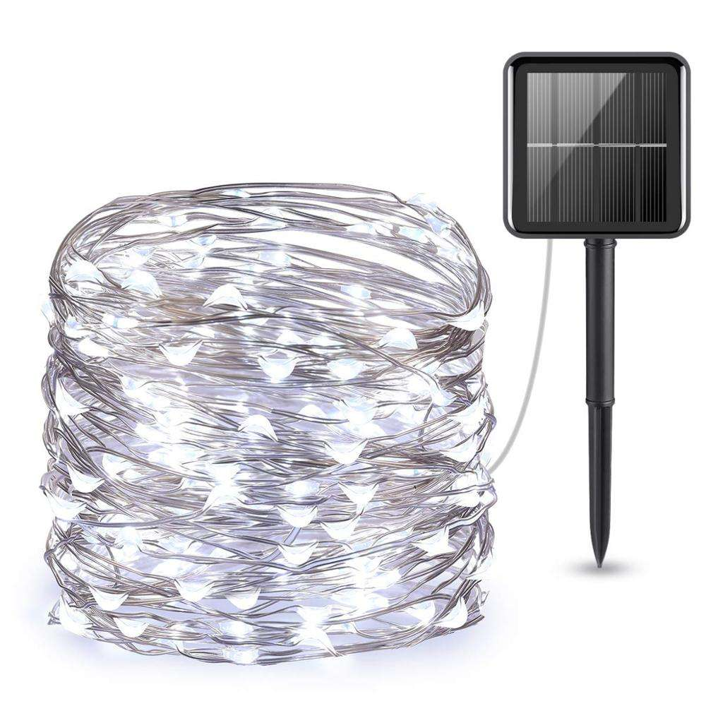 indoor/outdoor solar powered waterproof sting light bar for holiday christmas decor
