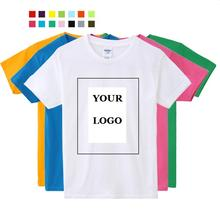Quality Free Shipping Custom logo printing Premium 100% cotton T-shirts for children