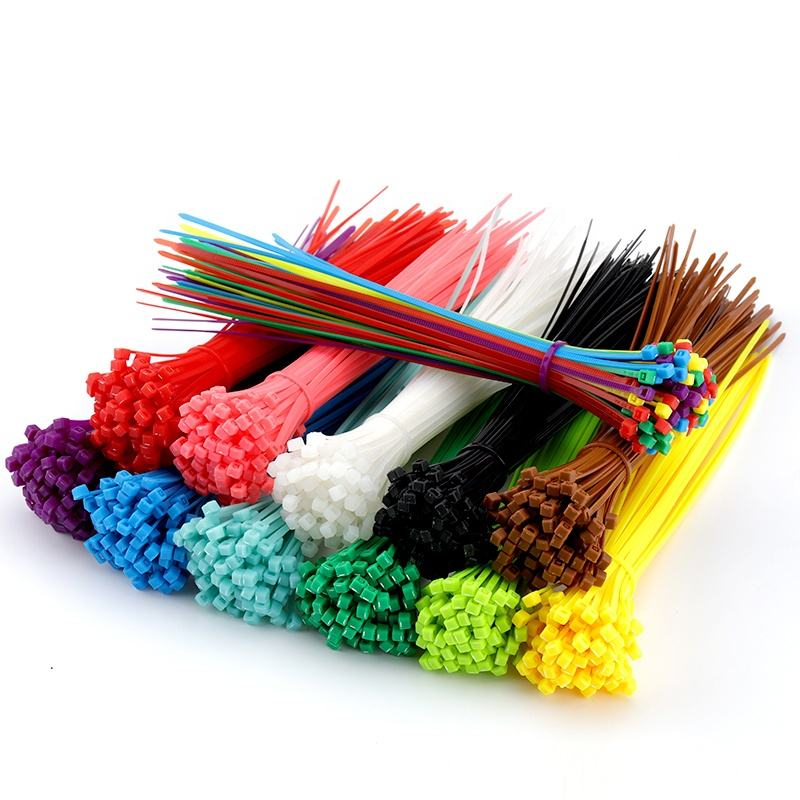 plastic cable ties,nylon zip ties multi-color,black/red/blue/green/yellow wire ties UL/ROHS Certified