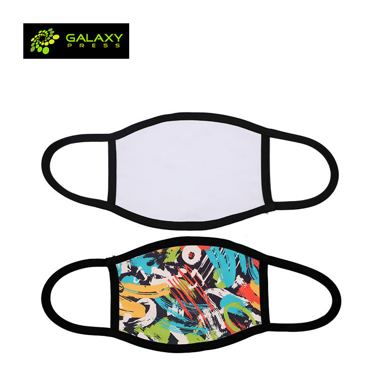 Sublimation breathable beauty 2 ply face masks with filter container