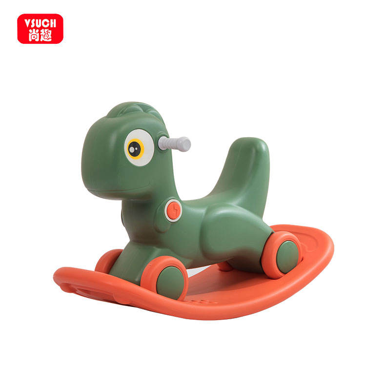 China Manufacture Colorful Indoor Baby Plastic Rocking Horse Toy For Kids