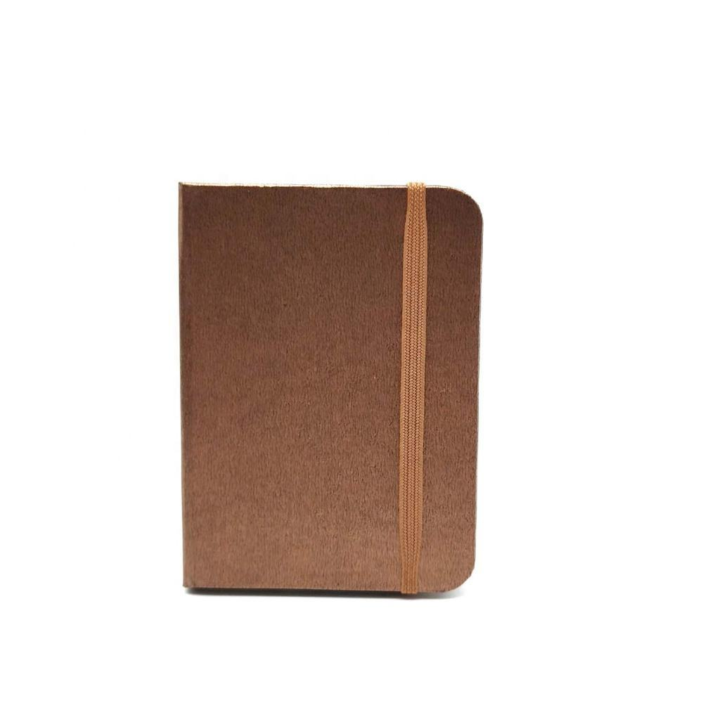 Eco friendly custom paper cover blank pocket notebook with elastic belt