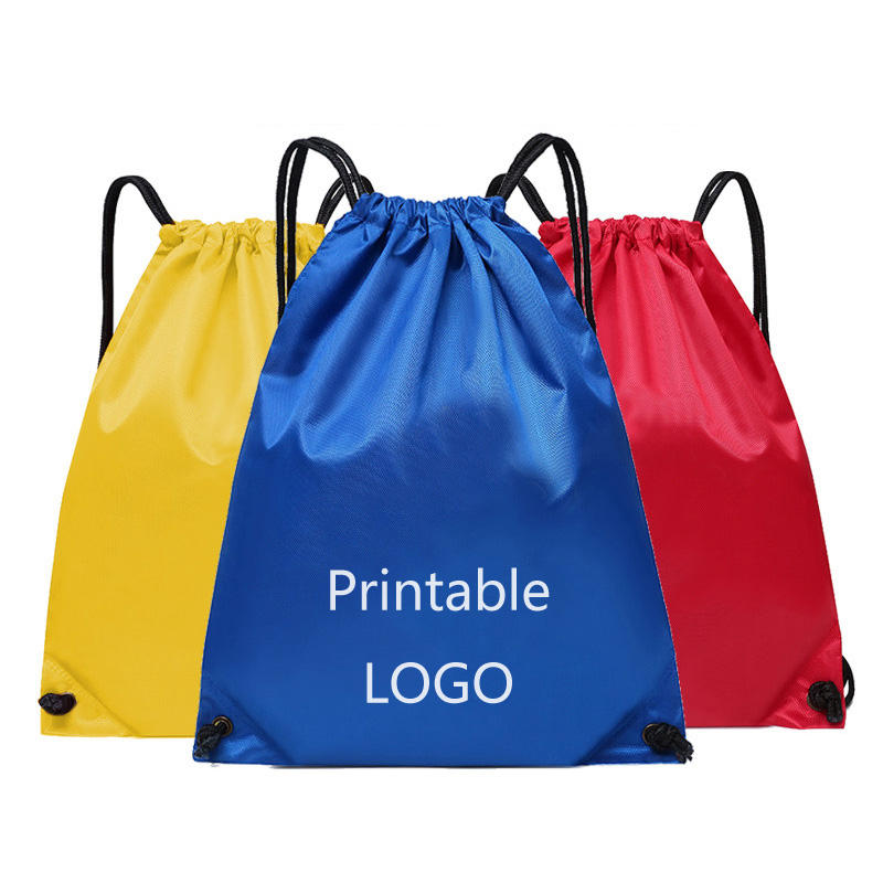 Waterproof and portable sports bag thickened belt riding backpack gym drawstring shoes bag storage clothes custom logo