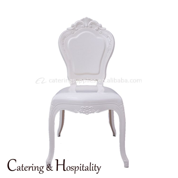 Stackable Bella Plastic Chair Wedding Dining Princess Chair White / Ivory Bella Chair