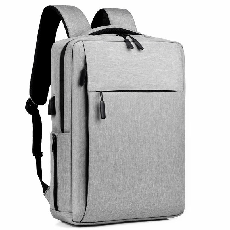 Water Resistant Business Computer Backpack Bag with USB, OEM Logo Design 15.6 Inch Laptop Backpack for Wholesale