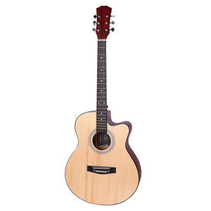 Cheap 40 inch Basswood Beginner Guitar 6 String Guitar Ukulele Acoustic Guitar Kit Made In China