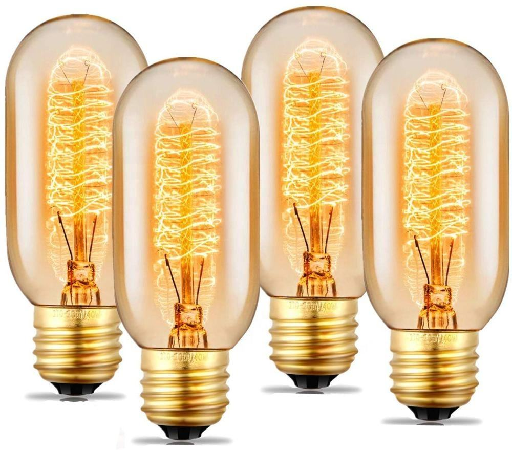Vintage Spiraal Led Filament <span class=keywords><strong>Edison</strong></span> Buisvormige Gloeilamp T45 Dimbare