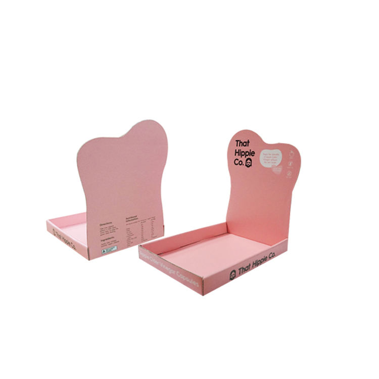 Shenzhen Supplier OEM Paper Counter Display Full Printed PDQ Stand for Cosmetics Makeup