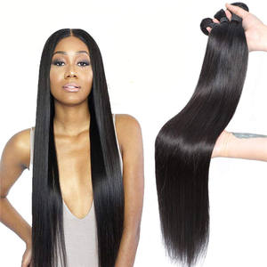Wholesale Factory Price Brazilian Human Hair Extension, Virgin Cuticle Aligned Hair Straight 100 Human Hair Weave Bundles