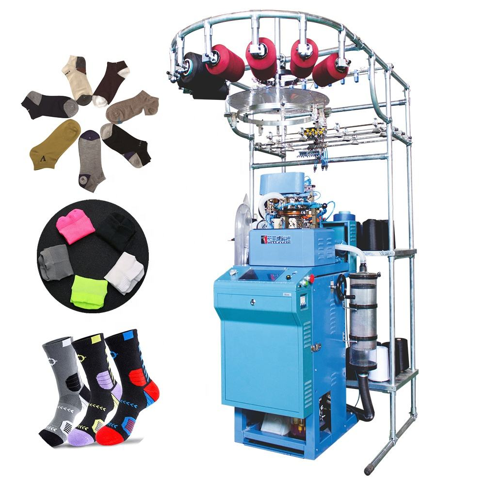 Factory 3.75''/4''/4.5''/5'' Sock making knitting machinery machine automatic for sale
