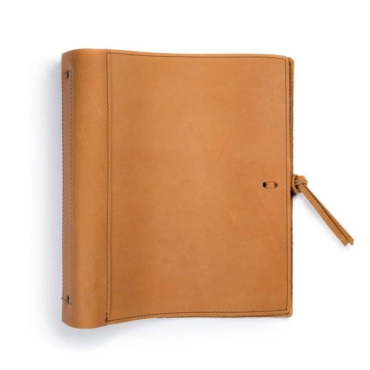 "Custom cover notebook for A4 leather journal soft leather with loose-leaf binder suit to 8.5"" x 11"" paper book Guangdong factory"