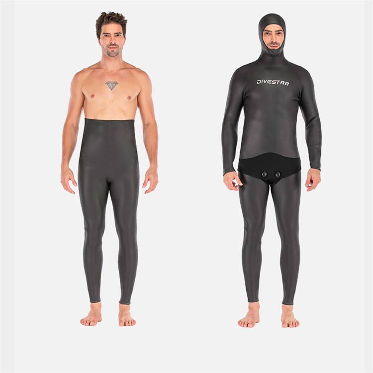 Hochwertige neopren Glatte haut speerfischen neoprenanzug schwarz freies tauchen anzug Warm Halten Neoprenanzug für Männer