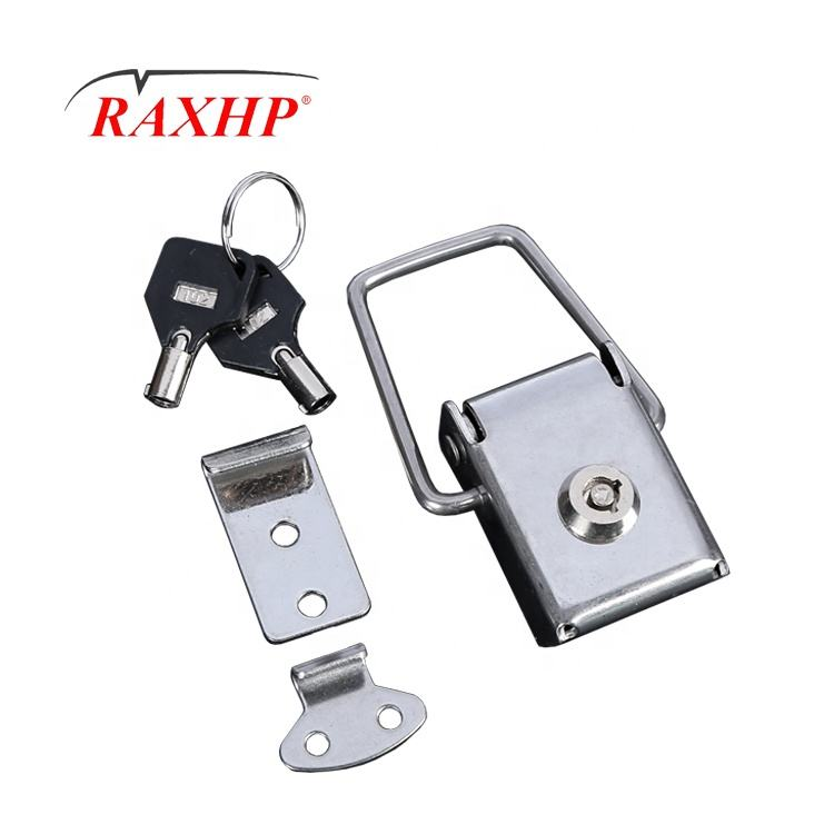 Custom Over centre fastener ss aluminium panniers lock latch with key lock