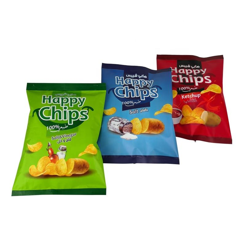 Wholesale Back Seal Aluminum Foil Food Bag Empty Potato Plantain Chips Packing Pouches Composite Mylar Snack Bag
