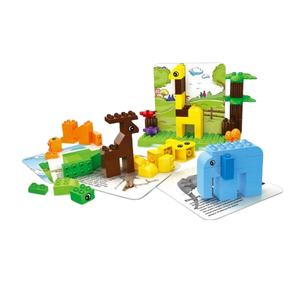 101pcs kids plastic happy zoo enlighten toy building blocks for sale legoing