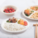 Single use biobased products plate 10 inch round 3 compartment dishes dinnerware for deluxe Restaurant sugarcane bagasse fiber