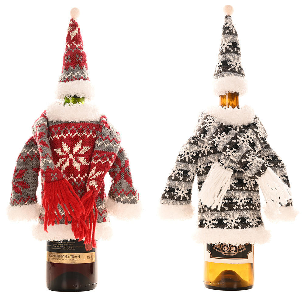 High quality Christmas Holiday Wine Bottle Bags Cover Christmas Gift Candy Bag for Dinner Party Xmas Table Decor Merry Christmas