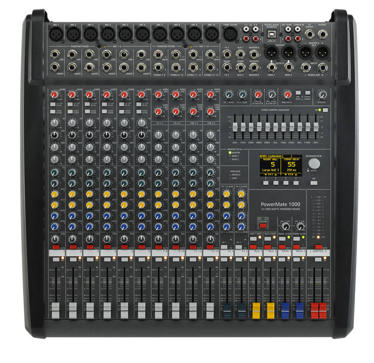Top 5A 1:1 Quality Powermate 1000 Mixer Similar As Dynacord Power Mixer(Export Price)