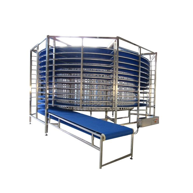 bread spiral proofer cooling cooler conveyor bread fast freezing room