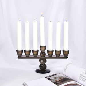 Handmade Black Taper Vintage Church Decorative Candlestick Table Candle Holders