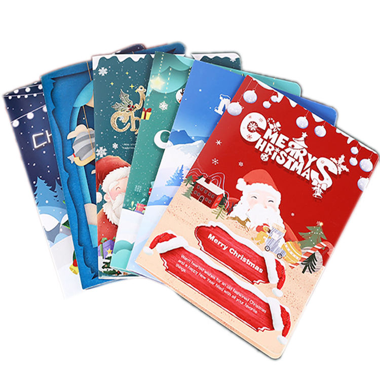 Manufacturer Cheap Price Christmas Gift Card Luxury Laser Cutting Postcard