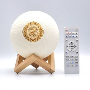Merek Ihmade Bluetooth Speaker Moon-Lampu Remote Control LED Lampu Malam Kecil Colorful Nirkabel