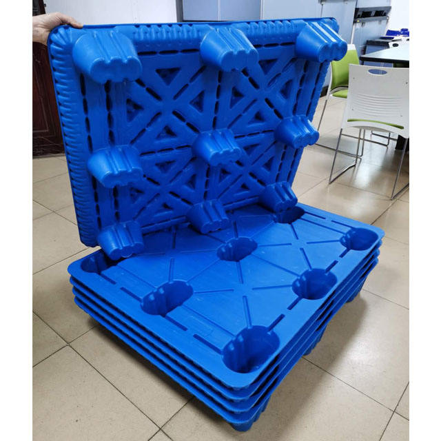 Heavy duty double sides euro HDPE large stackable reversible cargo plastic pallet good quality plastic pallet Manufacturer