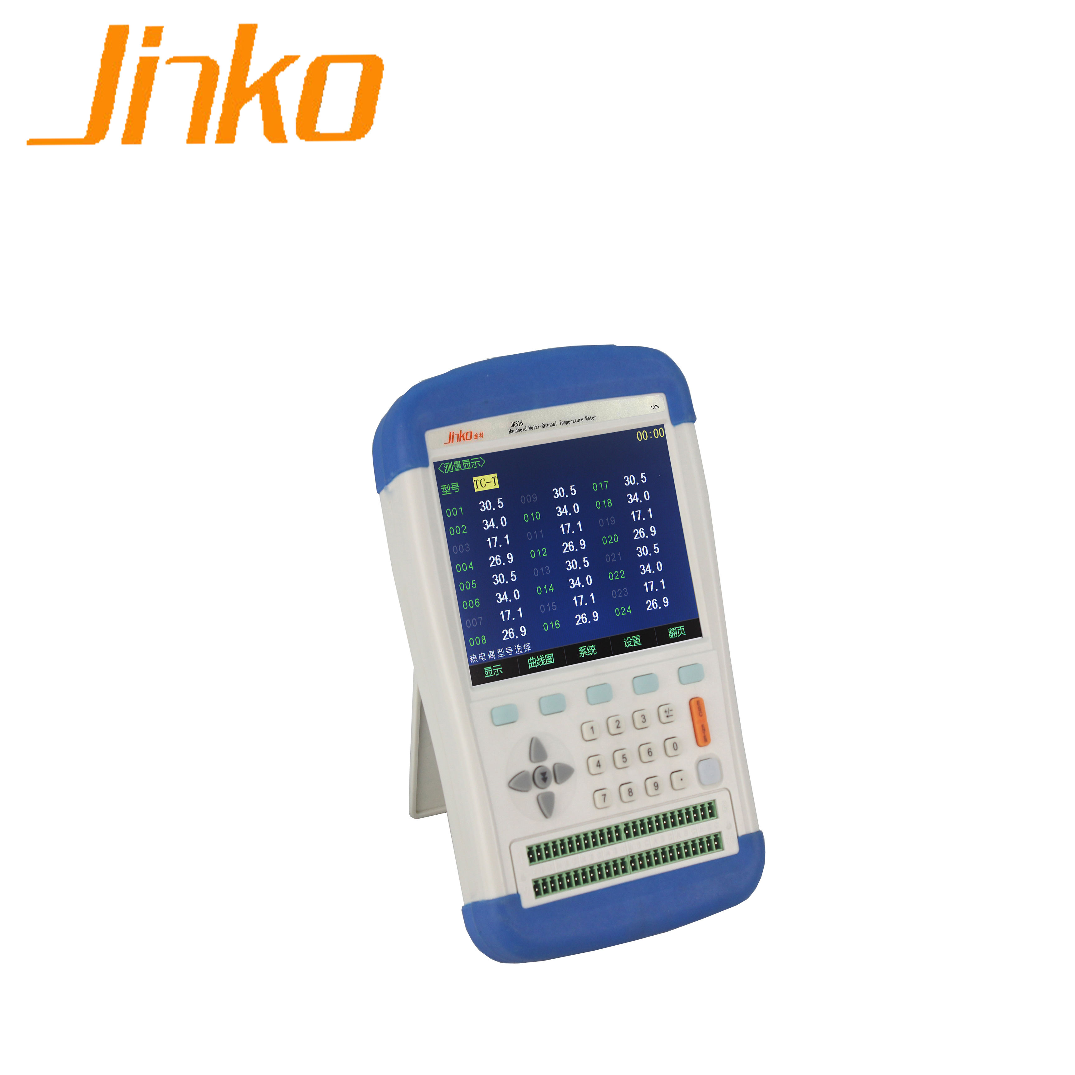 Jinko JK516 Multi channel temperature meter with Data Logger Function best price digital temperature meter