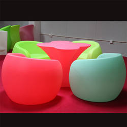 Customized rotomolded outdoor furniture mould/aluminium rotational moulding flower shaped chair light plastic shape