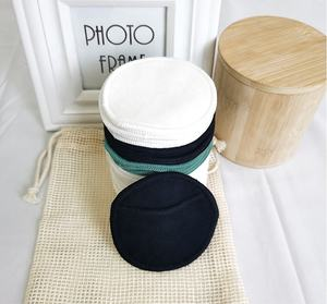 Free Sample Reusable Washable 100% Organic Bamboo Cotton Makeup Remover Face Pads