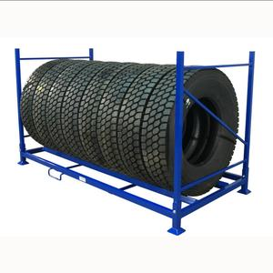 heavy duty folding steel storage truck tire racking