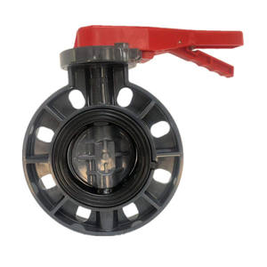 10years factory cheap price pvc wafer lever d71x grey butterfly valve