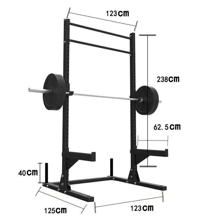 Pin loaded fitness equipment commercial use squat rack
