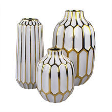 Nordic ins plating ceramic vase table crafts christmas ornaments