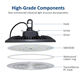 Light 100w 150w DLC List UFO Led High Bay Light With 60 90 120 Degree Reflector 130LM/W 100W 150W 200W 240W