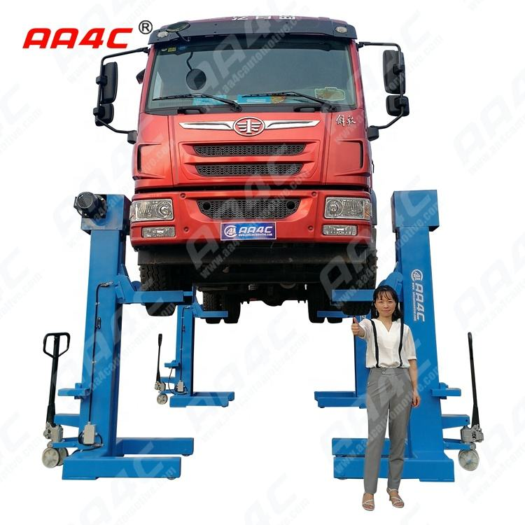 AA4C 30T bus &truck lift heavy duty vehicle lift combined 4 post parking hoist Mechanical Mobile Column lift (Screw-up)
