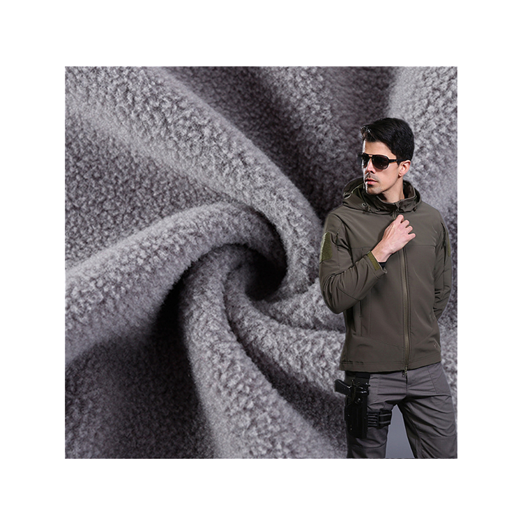 High quality 100% polyester polar fleece fabric two side brushed single side anti pilling polar fleece fabric