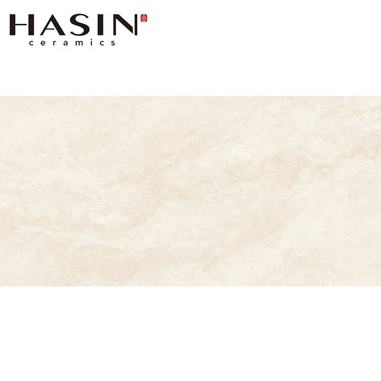 Hasin Digital Glazed Porcelain Pale Yellow Marble Surface Various Pattern Floor Ceramic Tiles