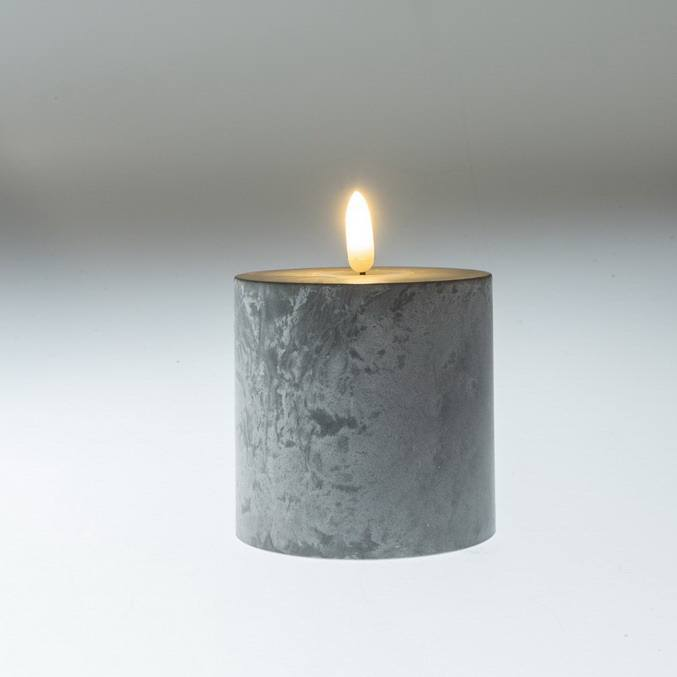 Kanlong cement effective christmas wax flaming led cotton candlewick flameless led light candle for home decoration