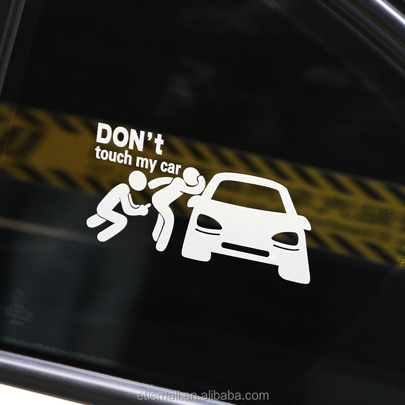 ETIE pvc vinyl waterpoof removable custom reflective dont touch my car sign sticker clear stickers for car window decals