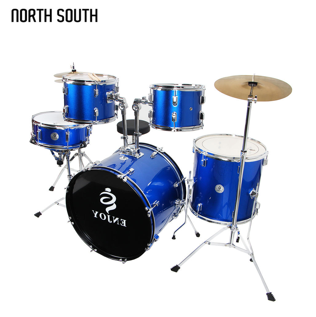Premium Quality Children Kids Acoustic Drum Set With 5 Colors