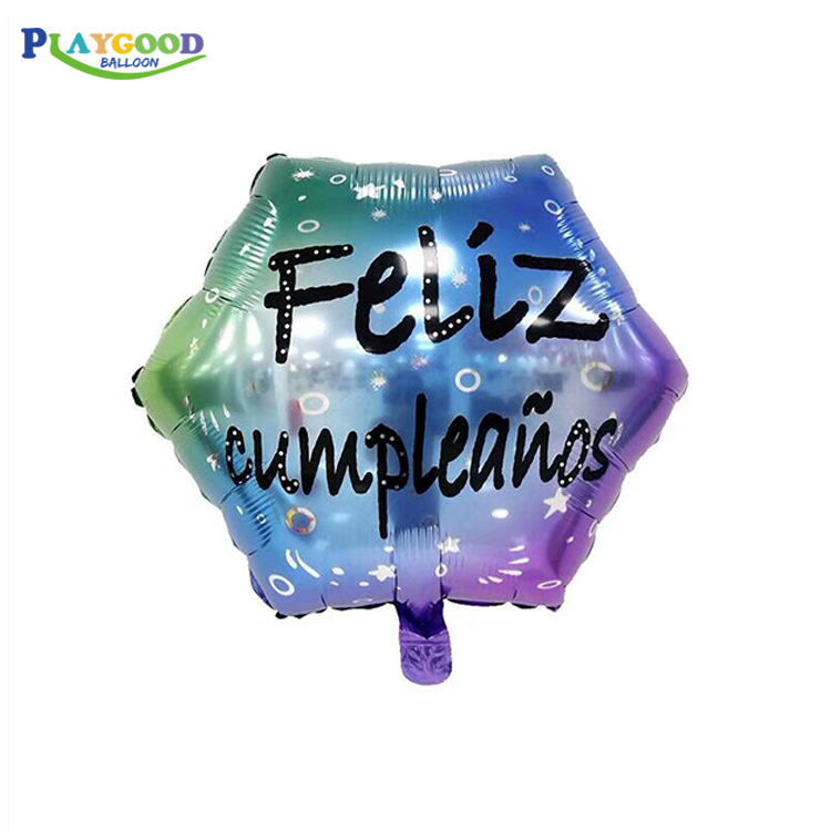 2019 New Products Flize Cumpleanos Letter Balloons Party Decoration 18inch Spanish Happy Birthday Foil Balloon