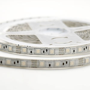 5050 smd 16.4ft/5m 60LEDs/m 300LEDs DC12V Yellow single color waterproof IP65 white PCB board LED strip lights