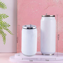 300/400ml Double Wall Stainless Steel Tumbler Cups Cold Drinks Cooler Beer Cans Sublimation Blanks With Straw