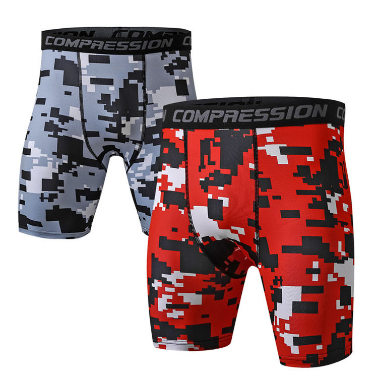 New Design Custom Men Quick Dry Beach Shorts Fashion Printed Running fitness camo shorts